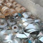 Shifted cargo of steel coils
