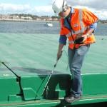 Ultrasonic hatch cover testing